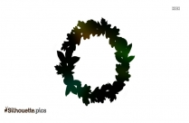 Cartoon Fall Wreath Silhouette Image