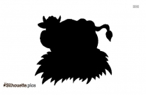 Cute Cartoon Cow Silhouette Drawing