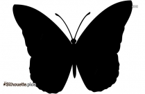 Female Butterfly Silhouette Clipart