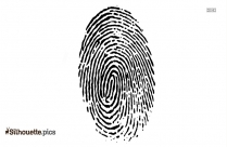 Cartoon Fingerprint Silhouette