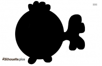 Jumping Fish Cartoon Silhouette