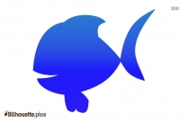 Free Cartoon Fish Silhouette Image