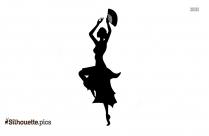 Cartoon Flamenco Dance Silhouette Picture