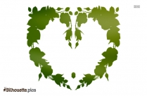 Simple Floral Border Silhouette Vector And Graphics