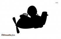 Cartoon Fly Up Silhouette
