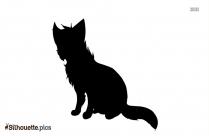 Cartoon Fox Clipart Silhouette Drawing
