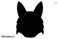 Cartoon Fox Head Vector Silhouette