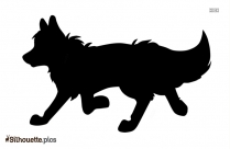 Cartoon Fox Running Silhouette Clipart