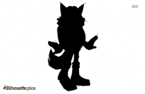 Cartoon Fox Silhouette Background
