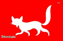 Fox Leaping Silhouette Drawing