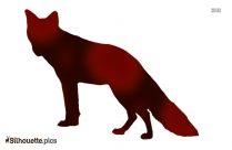 Cartoon Fox Standing Silhouette Image And Vector