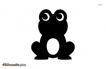 Funny Cartoon Frog Silhouette
