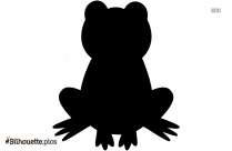 Black And White Cartoon Frog Silhouette