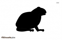 Cartoon Frog Silhouette Background Image