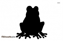 Cartoon Frog Silhouette Free Vector Art