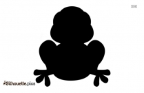 Cartoon Frog Sitting Silhouette Picture
