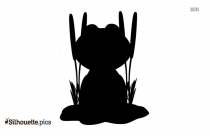 Cartoon Frog Silhouette Icon