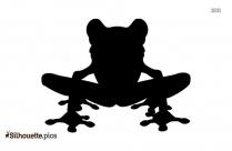 Cartoon Frog Sitting Silhouette