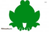 Cartoon Frog Sitting Silhouette Clip Art