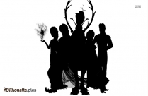 Cartoon Frozen Characters Silhouette Image