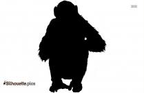 Funny Monkey Silhouette Clip Art