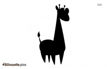 Giraffe Cartoon Silhouette Clipart