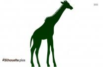 Cartoon Giraffe Silhouette, Animals Clipart