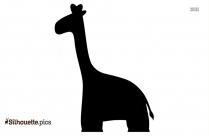 Dancing Giraffe Clipart Silhouette