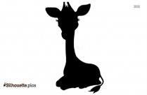 Cartoon Giraffe Silhouette Clipart