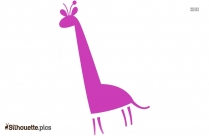 Cartoon Giraffe Silhouette Clipart Download