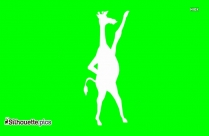 Cartoon Giraffe Silhouette, Funny Giraffe Clipart