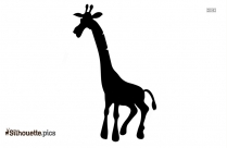 Cartoon Giraffe Silhouette Image