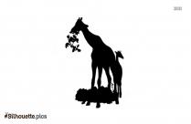 Cartoon Giraffe Silhouette Vector And Graphics Illustration
