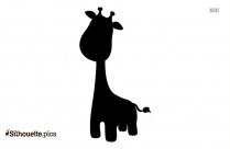 Cartoon Giraffe Vector Silhouette