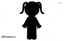 Cartoon Girl Child Silhouette Icon