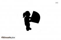 Cartoon Girl Child Silhouette Image