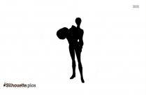 Cartoon Girl Punisher Silhouette