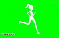 Free Running Silhouette, Marathoner Clip Art Icon