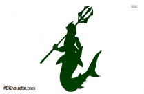 Cartoon Girl Shark Silhouette Art
