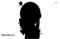 Cartoon Girl Profile Silhouette Image