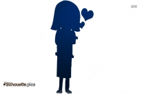 Girl Standing Silhouette Drawing