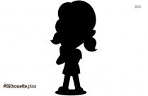 Cartoon Girl Silhouette Drawing Picture