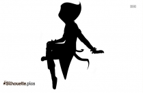Pretty Girl Silhouette Drawing