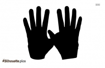 Gloves Silhouette Drawing