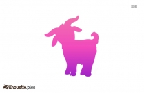 Cartoon Goat Silhouette Image
