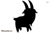 Cartoon Goat Silhouette Art