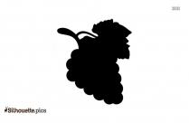 Black Grapes Silhouette Image