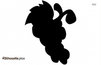 Cartoon Bunch Of Grapes Silhouette