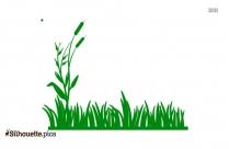 Cartoon Grasses Silhouette Free Vector Art