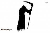 Free Scary Grim Reaper Silhouette